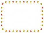 キノコの囲みフレーム飾り枠イラスト