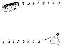 音符 無料イラスト かわいいフリー素材集 フレームぽけっと