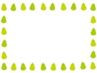 洋梨の囲みフレーム飾り枠イラスト