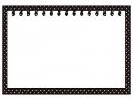 水玉模様のノートの白黒フレーム飾り枠イラスト