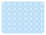 大小の星パターンの水色フレーム飾り枠イラスト