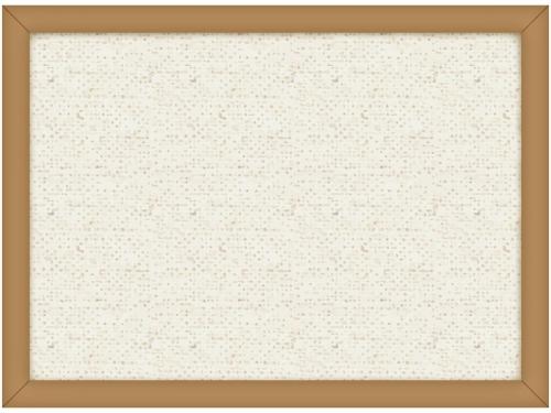 布生地を張ったシンプルな木の額縁のフレーム飾り枠イラスト