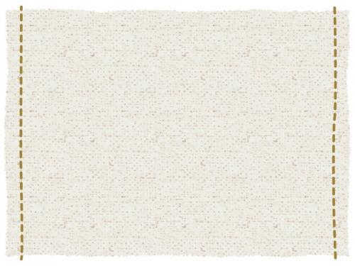 左右にステッチをした布のフレーム飾り枠イラスト