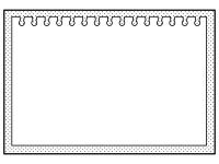 ドット模様のノートの白黒フレーム飾り枠イラスト