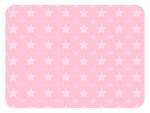 大小の星パターンのピンク色フレーム飾り枠イラスト