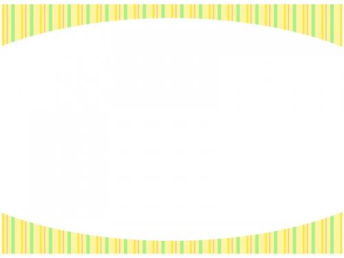 黄色のストライプのフレーム飾り枠イラスト