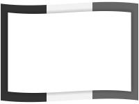 白黒の3色の旗風フレーム