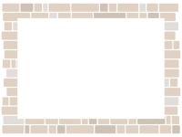 淡い色のレンガ壁のフレーム飾り枠イラスト