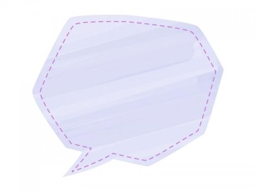 紫色の水彩風吹き出しフレーム飾り枠イラスト