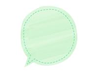 黄緑色の水彩風吹き出しフレーム飾り枠イラスト