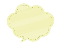 黄色の水彩風吹き出しフレーム飾り枠イラスト