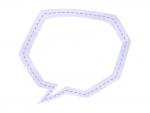 水彩風吹き出しの紫色フレーム飾り枠イラスト