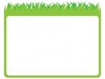 草原の上部フレーム飾り枠イラスト
