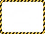 黒と黄色線の注意・警戒のフレーム飾り枠イラスト