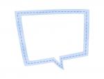水彩風吹き出しの青色フレーム飾り枠イラスト