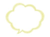 水彩風吹き出しの黄色フレーム飾り枠イラスト