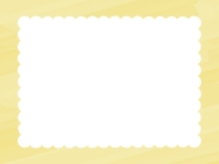 水彩風のもこもこ(黄色)フレーム飾り枠イラスト