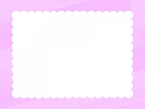 水彩風のもこもこ(ピンク色)フレーム飾り枠イラスト