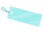 水彩風タグ・荷札(水色)フレーム飾り枠イラスト