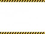 黒と黄色線の注意・警戒の上下フレーム飾り枠イラスト