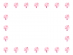 桜の木の囲みフレーム飾り枠イラスト