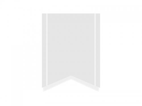 白色のリボン風タグのフレーム飾り枠イラスト