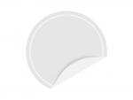 めくれた白い円形のシール・ラベルのフレーム飾り枠イラスト