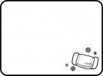 マスクの白黒の四角フレーム飾り枠イラスト