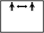 ソーシャルディスタンスの白黒フレーム飾り枠イラスト