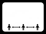 ソーシャルディスタンスの白黒フレーム飾り枠イラスト02