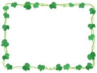 アイビー(蔦・ツタ)葉っぱの囲みフレーム飾り枠イラスト