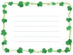 アイビー(蔦・ツタ)葉っぱの囲みメモ帳フレーム飾り枠イラスト