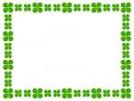 クローバーの囲みフレーム飾り枠イラスト02