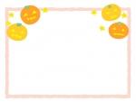 上部のハロウィン・ジャックオーランタンの四角フレーム飾り枠イラスト
