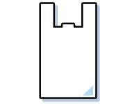 レジ袋のフレーム飾り枠イラスト
