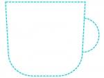 コップの形の水色の点線フレーム飾り枠イラスト