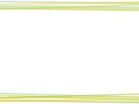 重なった黄緑の線の上下フレーム飾り枠イラスト