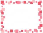 ピンク色の四角の囲みフレーム飾り枠イラスト