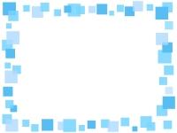 水色の四角の囲みフレーム飾り枠イラスト
