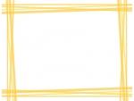 重なった黄色い線の四角フレーム飾り枠イラスト