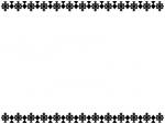 レース模様の白黒上下フレーム飾り枠イラスト