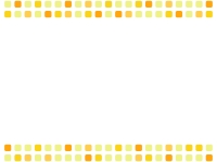 黄色系の四角の上下フレーム飾り枠イラスト