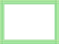 緑色系の線の四角フレーム飾り枠イラスト