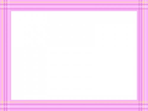 ピンク色系の線の四角フレーム飾り枠イラスト