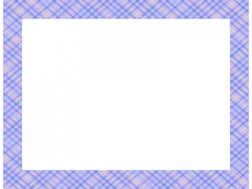 紫色の斜めチェック模様の四角フレーム飾り枠イラスト