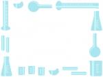 理科の実験器具のフレーム飾り枠イラスト
