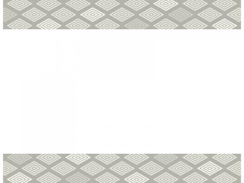 鼠色の和柄・入子菱(いりこびし)の上下フレーム飾り枠イラスト