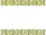 緑色系の和柄・入子菱(いりこびし)の上下フレーム飾り枠イラスト