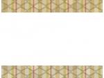 茶色系の和柄・入子菱(いりこびし)の上下フレーム飾り枠イラスト