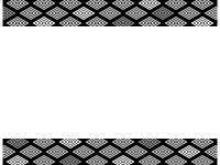 灰色と黒の和柄・入子菱(いりこびし)の上下フレーム飾り枠イラスト